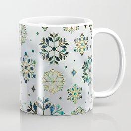 Festive Golden Abalone Shell Snowflake pattern Coffee Mug