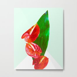 Flamingo flower #society6 Metal Print