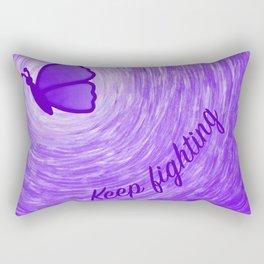 Keep Fighting (Digital) Rectangular Pillow