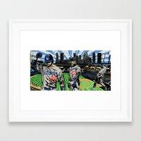 "dodgers Framed Art Prints featuring ""Matt Kemp LA !"" ( @ArtMobb ) Mike Farhat ( @Califawnia ) by Mike Farhat Art Mobb"