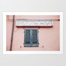 Pizzeria in Pisa Art Print