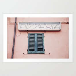 Pizzeria in Pisa Art Print