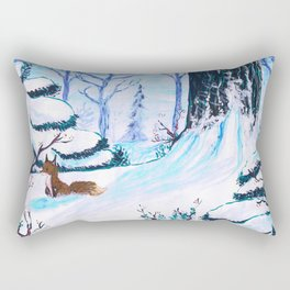 Cold Winter Snow Rectangular Pillow