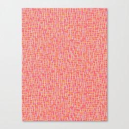 Pink Woven Burlap Texture Seamless Vector Pattern Canvas Print