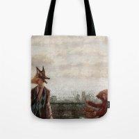 werewolf Tote Bags featuring Werewolf by Yuko Rabbit