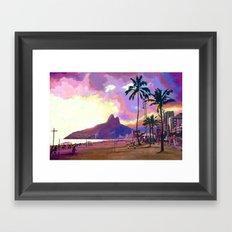 Por do Sol Framed Art Print