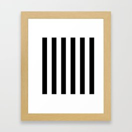 Black & White Vertical Stripes - Mix & Match with Simplicity of Life Framed Art Print