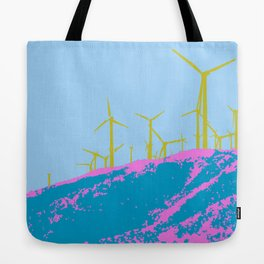 Palm Springs Wind Farm, California Tote Bag