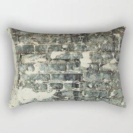Gray Brick Wall Rectangular Pillow