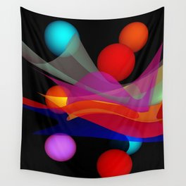 waves on black -02- Wall Tapestry