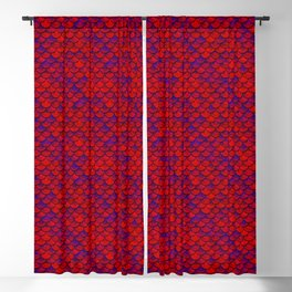 Red Purple Scales Blackout Curtain