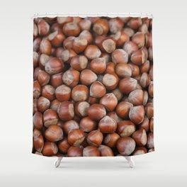 Hazelnuts Illustration Shower Curtain