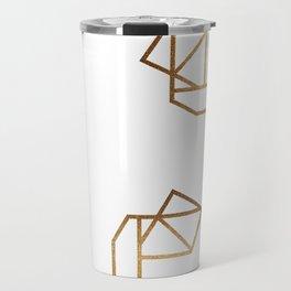 industrial golden glitters Travel Mug