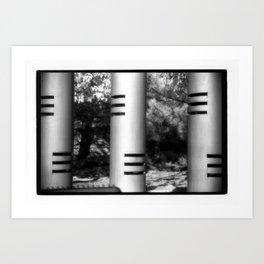 Three Columns Art Print