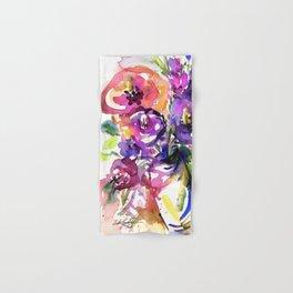 Floral Dance No. 5 by Kathy Morton Stanion Hand & Bath Towel