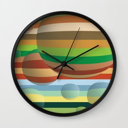 Alpha Orbs Classic Wall Clock