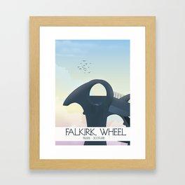 Falkirk Wheel,Scotland travel poster Framed Art Print