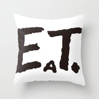 eat Throw Pillows featuring EAT by Masahisa  Saito