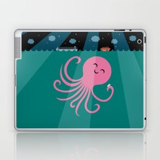 Octopus Selfie at Night Laptop & iPad Skin