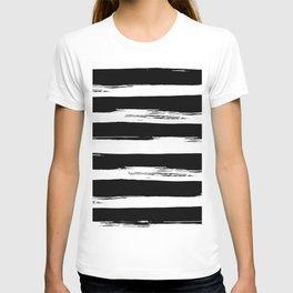Paint Stripes Black and White T-shirt