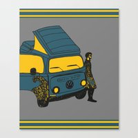 van Canvas Prints featuring Van by AndaLouz