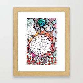 Churning Stillness Still Churning (unquantified non process) Framed Art Print