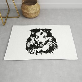 Christmas Gifts for the Shetland Sheepdog owner from MONOFACES Rug