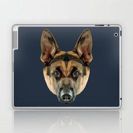 German Shepherd // Navy Laptop & iPad Skin
