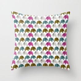 Elephants cute kids design Throw Pillow