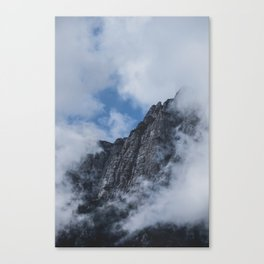 Mountain through Clouds // Landscape Photography Canvas Print