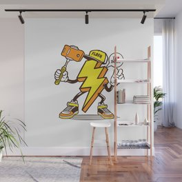I love Lightning Bolt Wall Mural