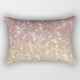 Gold Pink Sparkle Ombre Rectangular Pillow