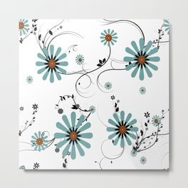 Winter daisy Metal Print