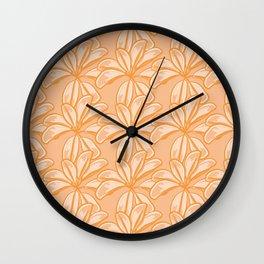Autumn Foliage Pattern Wall Clock