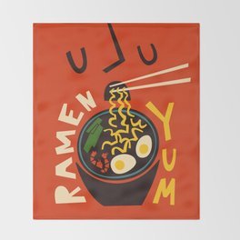 Yum Ramen Throw Blanket