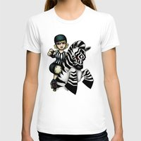 roller derby T-shirts featuring Roller Derby Referee Zebra by RonkyTonk