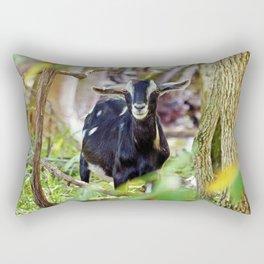 Smiling Goat Rectangular Pillow