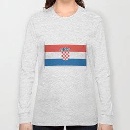 Flag of Croatia.  The slit in the paper with shadows.  Long Sleeve T-shirt