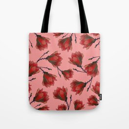 Red Magnolia Tote Bag