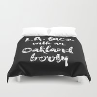 booty Duvet Covers featuring L.A. Face with an Oakland Booty by aftr drk