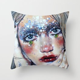 Beneath Crystal Waters Throw Pillow