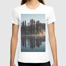 Foggy lake  #society6 T-shirt