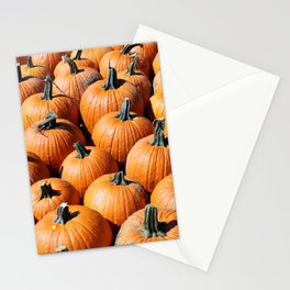 Pumpkin patch for Autumn season at market place Stationery Cards