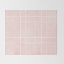Pink Coral Grid Throw Blanket