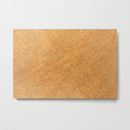 Bright hessian texture abstract Metal Print