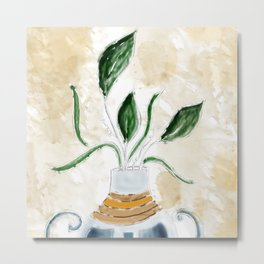 Potted and Cultured Metal Print