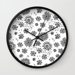 Flowers embroidery Wall Clock