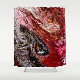 """Passion"" artwork by Inessa Laurel Shower Curtain"