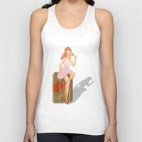 eugenia loli Tank Tops featuring Pin up Loli by PristinM