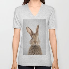 Rabbit - Colorful Unisex V-Neck